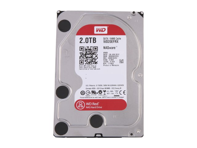 WDD HDD SATA-2TB-RED-WD20EFRX